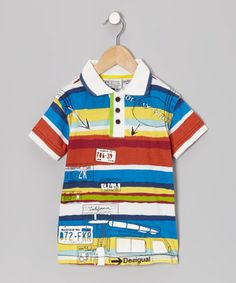 Take a look at this White & Blue Vallarta Polo - Boys by Desigual on #zulily today!