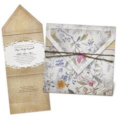Florentine Tapestry Wedding Invitation- at Michaels- absolutely love these