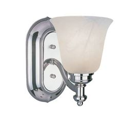 Z-Lite Hollywood Collection Chrome Finish One Light Vanity