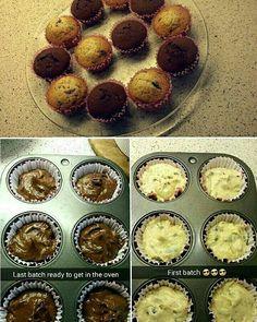 Vanilla + Chocolate cupcakes