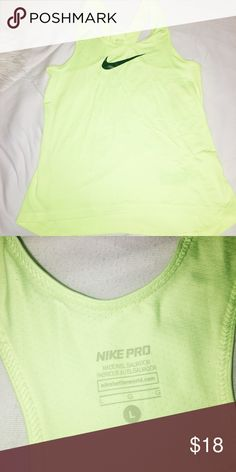 Nike pro running tank Bright bro yellow . Worn once . Great condition 👍🏽 Nike Other