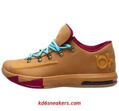 NIKE KD VI KD6 Kevin Durant Brown Basketball shoes #fashion