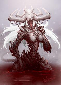 Lilith by Kookrite on DeviantArt Monster Concept Art, Monster Art, Creature Concept Art, Creature Design, Arte Horror, Horror Art, Fantasy Creatures, Mythical Creatures, Female Monster