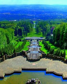 View from Hercules monument, Kassel, Germany