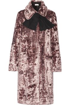 25 Stylish Winter Coats That Are Actually Warm #refinery29  http://www.refinery29.com/warm-dressy-coats#slide-5  Isa Arfen Crushed Velvet Coat, $1,735, available at Net-A-Porter. ...