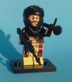 NEW CUSTOM LEGO BATMAN with WEAPONS SOLDIER BAD GUY TERRORIST BRICK WARS KOOL #LEG0