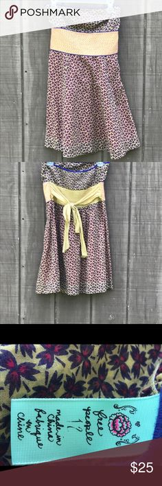 Free People Strapless  Dress Size 12 Adorable strapless Free People Dress Size 12 Free People Dresses