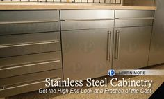 Stainless Steel Garage Cabinets by PremierGarage and Tailored Living of the NW