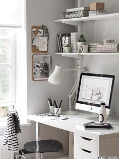 So make sure you design your home office exactly how you want from the perfect colors. See more ideas about Desk, Home office decor and Home Office Ideas. Mesa Home Office, Home Office Setup, Home Office Chairs, Home Office Space, Home Office Furniture, Office Ideas, Small Room Design, Design Your Home, Study Room Decor