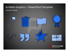 #ScribbleGraphics PowerPoint Templates #Icons and #sketches, objects, templates for topics like business,  finance, organization, travel, motivation or team for PowerPoint.    #presentationload