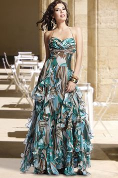 camoflage prom dresses