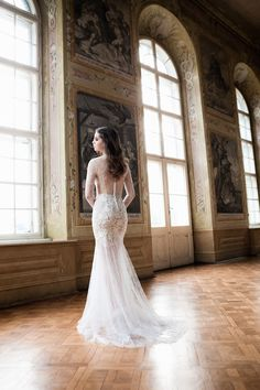 lace wedding dress with whisper soft tulle skirt