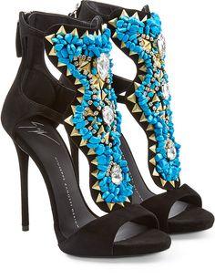 Giuseppe Zanotti High Heel Turquoise Sandal