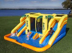 Rainforest Inflatable Bounce House Wet or Dry Water Park Slide Balls Included in Toys & Hobbies, Outdoor Toys & Structures, Sand & Water Toys, Water Slides Inflatable Water Park, Inflatable Bounce House, Water Slide Bounce House, Bounce House Parties, House Party, Bouncy House, Bouncers, Water Toys, Water Slides