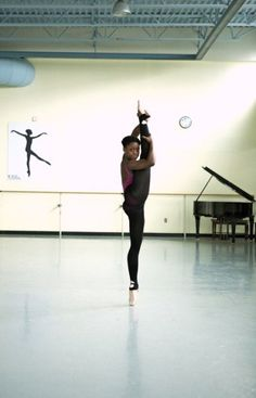 Michaela DePrince. Go watch first position.