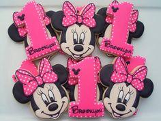 Minnie Mouse cumpleaños de dos docenas de galletas por LuxeCookie en Etsy
