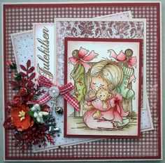 Annes lille hobbykrok: Stampavie, I Wish, Christmas card, Distress Ink