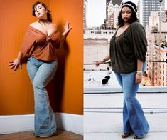 Big girls can wear whatever the heck they want.  Found this wonderful gem squished between 10 other articles that say plus size women shouldn't wear flare jeans.  #losehatenotweight