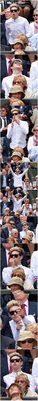Niall in Wimbledon today (6/26/14)!! It looks like he is feeling better :)