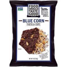Food Should Taste Good Tortilla Chips Gluten Free Blue Corn 5.5 oz