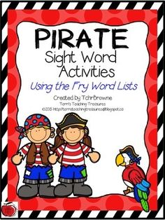 If you are looking for fun ways for your students to practice their sight words then these pirate themed sight word activities will be perfect for you. These activities are based on the FRY word lists (first 100 words). Sight Word Activities, Music Activities, Reading Activities, Fry Sight Words, Sight Word Practice, Site Words, 100 Words, Dolch Word List