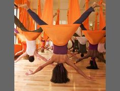 AntiGravity Yoga - Float and relax... there's nothing but air between you and the floor !