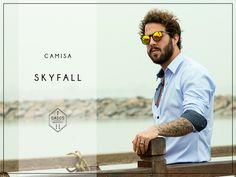 Camisa SKYFALL 100% Algodón Pima Slim Fit Tallas: S - M - L  Encuéntrala en: -Showroom (previa cita) -Vernacula  +Delivery gratis a todo el Perú.