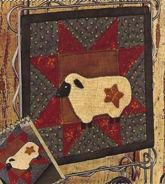Primitive Folk Art Quilt/Wool Applique Pattern  door PrimFolkArtShop, $2.95