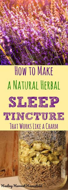 Getting a great night's sleep is difficult for many people these days. If you are looking for a natural way to get a good night's sleep, here is my recipe and directions for how to make a natural, herbal sleep aid that works like a charm! Using Valerian, Hops, and Lavender, this sleep tincture works quickly to help you get your rest naturally.