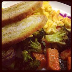 Veggie, Scrambled Eggs And Bruschetta @ Homemade by Federico