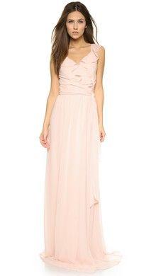 Shoshanna Shoshanna Midnight Rosa Gown   SHOPBOP