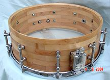 "Solid Stave or Segmented Snare Drum Shell 14/"" by 6/"" Select your wood type"