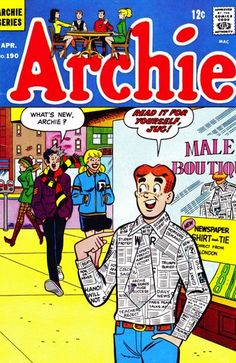 I used to read Archie comic books! I have a collection of Archie comic books! Rare Comic Books, Archie Comic Books, Archie Comics, Comic Book Characters, Comic Books Art, Book Art, Old Comics, Vintage Comics, Archie Betty And Veronica