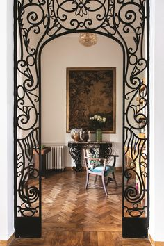 Grill Door Design, Gate Design, House Design, Wrought Iron Wall Decor, Metal Wall Decor, Tuscan Decorating, Interior Decorating, Metal Room Divider, Tuscan Design