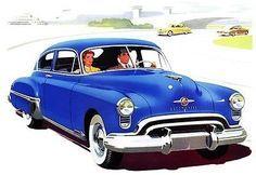 1949 Oldsmobile 88 Club Sedan - Promotional Advertising Poster