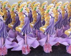 centro de mesa rapunzel enrolados