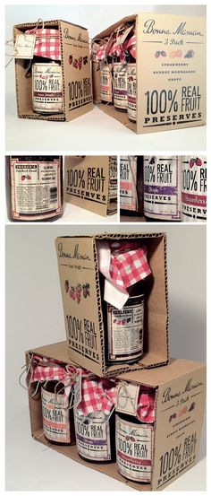 jam packaging design - Google Search  Usar cartones reciclados y hacer un timbre