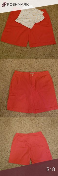 """Coldwater Creek Shorts Size 16.  Color in pics is pretty accurate.  EUC. Waist 17"""" Inseam 8 1/2"""" Rise 13"""" Front and back pockets AND one pocket with flap on right thigh. Coldwater Creek Shorts"""