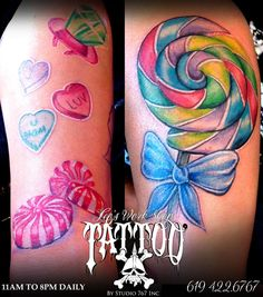 Candy Tattoos For Girls | candy shop tattoo Candy shop tattoo