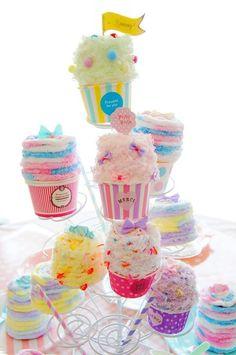 100円ショップのペーパーカップで作る♪ カップケーキ型プチケース^^ - 朝時間.jp
