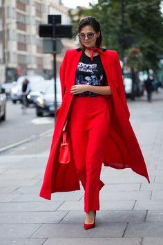 On the street at SS17 London Fashion Week. Photo: Chiara Marina Grioni/Fashionista.