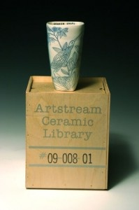 The Artstream Ceramic Library - borrow a cup by a master ceramicist for 7 days! Amazing concept. (This one is by Julia Galloway.)