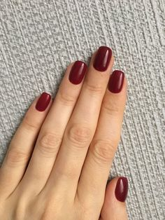 Dark red nails for winter and autumn nails - dark red nails for winter . - Dark red nails for winter and autumn nails – dark red nails for winter and autumn - Short Red Nails, Dark Red Nails, Burgundy Nails, Maroon Nails, Nail Art Designs, Winter Nail Designs, Nails Design, Pretty Nail Colors, Pretty Nails