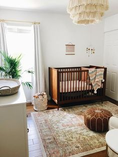Crushing hard on this baby girl nursery featuring our Dream Cotton mattress in Blush. 😍 Do you search online for nursery inspiration? What are your go to sites or accounts? Dark Wood Nursery, Nursery Dark Furniture, Dark Brown Furniture, Brown Nursery, Brown Crib, White Nursery, Baby Room Design, Baby Room Decor, Nursery Decor