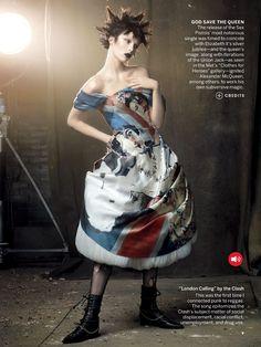 "VISUELLE: ""Rebel Yell"" : Edie Campbell, Frida Gustavsson, + more : US Vogue May 2013 : Steven Mesiel"