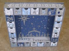 Advent Calender - I am so gonna make one, possibly this year. I love these colours and the biblical side of it, beautiful!