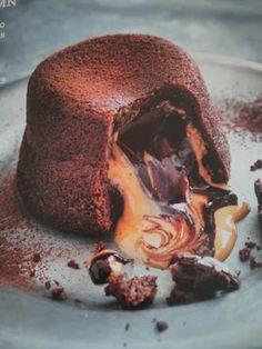 Molten Peanut Butter and Chocolate Fondant Cake | Just a good recipe