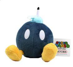 "5"" Official Sanei Bob-omb Soft Stuffed Plush Super Mario Plush Series Plush Doll Japanese Import Sanei http://smile.amazon.com/dp/B005VLG2BE/ref=cm_sw_r_pi_dp_zV9Rub1CTWGMC"