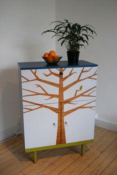 refinished bureau - tree is the original wood