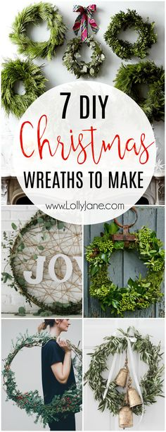 LOVING these 7 DIY Christmas to make from scratch. Loving the fresh greens from your yard or local park or grocery store, so easy to make to welcome holiday cheer all season long!